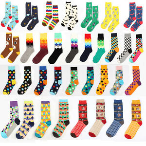 New-Casual-Cotton-Socks-Design-Multi-Color-Fashion-Dress-Men-039-s-Women-039-s-Socks