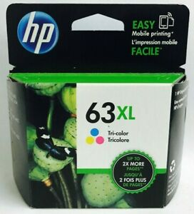New-Genuine-HP-63XL-Color-Ink-Cartridge-Officejet-3830-3831-3832-Deskjet-3633
