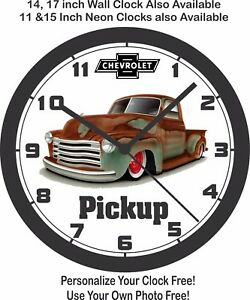 1949 CHEVROLET PICKUP TRUCK WALL CLOCK-FREE USA SHIP!