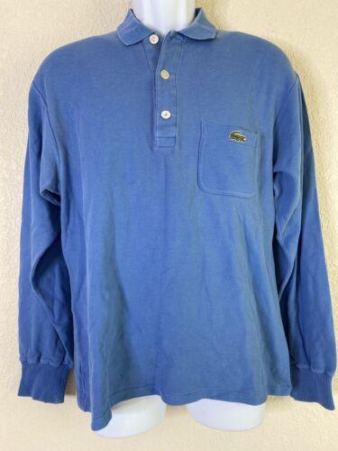 Lacoste Chemise Men Size L/3 Blue Polo Shirt Long