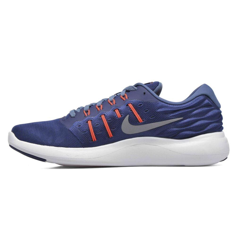 Nouveau Nike lunarstelos Bleu & Gris Baskets/Chaussures de course. Pointure 8. EU 42.5-