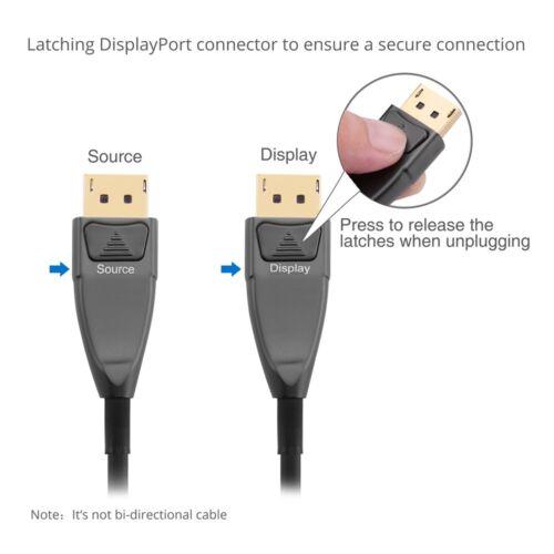 AOC - 30m SIIG DisplayPort 1.2 Fiber Optical Cable 4K 60Hz, 21 Gbps