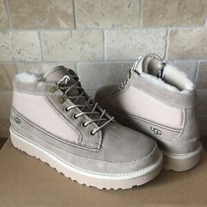 870ac54029c Details about UGG HIGHLAND FIELD WHITE PEPPER SUEDE SHEEPSKIN LACE SHOES  BOOTS SIZE US 9 MENS