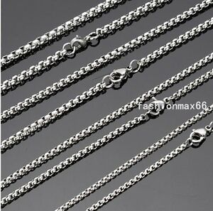Wholesale-In-Bulk-Lots-Silver-Stainless-Steel-Charm-Box-Chain-Necklace-18-034-30-034