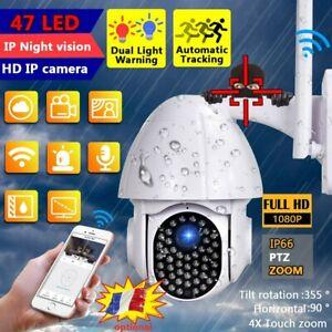 Caméra de Surveillance Sans fil Vision Nuit Sécurité Extérieur 1080P wifi IP FR