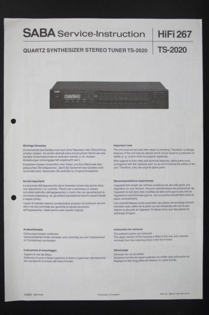 saba ts 2020 original tuner service instruction manual diagram saba ts 2020 original tuner service instruction manual diagram wiring diagram
