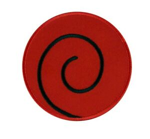 Large Uzumaki Clan Symbol Naruto Embroidered Iron On Patch Iron on Applique