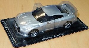 MAG-EF07-Nissan-GT-R-R35-CBA-diecast-model-road-car-metallic-silver-2008-1-43rd
