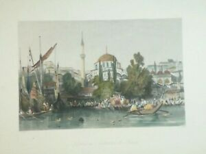 Vista-di-Pera-Beyo-lu-da-Tophane-1836-Asia-Constantinople-and-the-Scenery