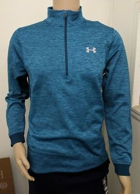 Overcast Gray, 7 Under Armour Boys 1//4 Zip Long Sleeve Top
