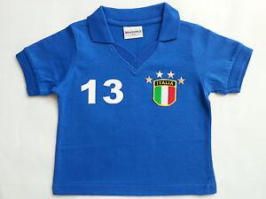 Italien Italy Italia Baby Kinder Retro T Shirt Trikot Baumwolle Gr