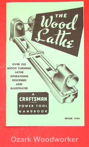 CRAFTSMAN Wood Lathe 1954 Handbook Operator/'s Manual 0863