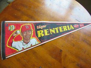 St Louis Cardinals Edgar Renteria Award Pasta House Pennant Coca