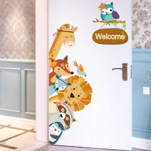 Cartoon-Animals-Kids-Wall-Stickers-Home-Decor-Wardrobe-Door-Decal-Cute-Animal