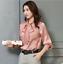 Womens-Satin-Silk-Button-Down-Blouse-Top-Bow-Tie-Neck-Shirt-Long-Sleeve-Zhou8 thumbnail 6
