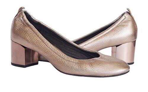 LANVIN Paris Cube Heels Pumps Shoes Leather Pale P