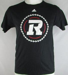 Ottawa-Redblacks-Adidas-Men-039-s-M-XL-3XL-Black-Short-Sleeve-T-Shirt-CFL