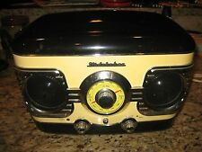 Studebaker 3 Speed Record Turntable w. AM FM Radio - Faux Retro Art Deco Style!