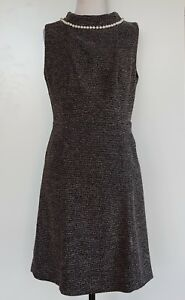 REVIEW-Brown-Cream-Dress-Size-14
