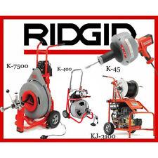 Ridgid K 7500 60052 K 400 T2 52363 K 45 1 36013 Kj 3100 Jetter 37413
