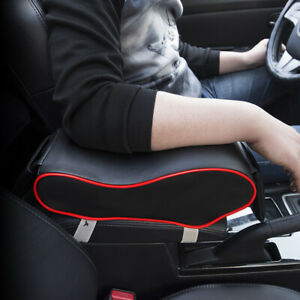 Memory-Cotton-PU-Leather-Armrest-Box-Mats-Pad-Universal-Armrest-Box-Protective