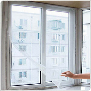 Insect Bug Mosquito Window Door Net Mesh Screen Sticky Tape New Curtains HQ