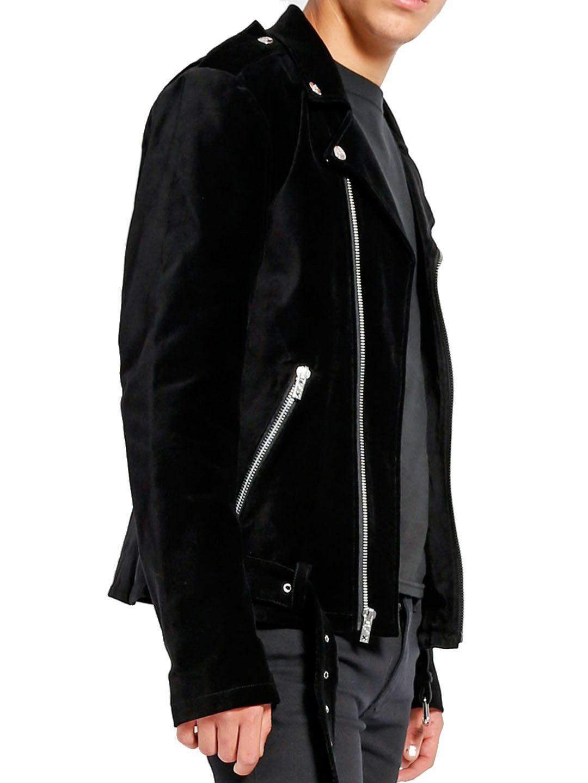 Men/'s Gothic Moto PU BLACK Vinyl PVC Moto Jacket Punk Fetish EMO Biker Jacket
