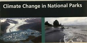 New 2016 CLIMATE CHANGE in NP   NATIONAL PARK SERVICE UNIGRID BROCHURE  Map  #A