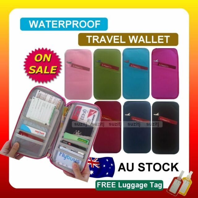 TRAVEL WALLET PASSPORT HOLDER DOCUMENT Organier Bag Credit Card Case New