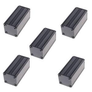 50*25*25mm Hot Aluminum Box Extruded PCB Black Enclosure Electronic Project Case