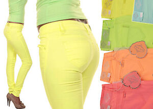 Sexy-Trendy-Neon-Jeans-Trousers-Low-Rise-Jeans-Low-Rise-Trousers-34-36-38-40-NEW