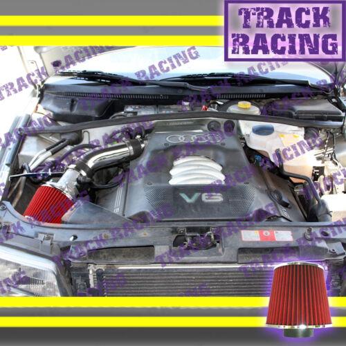 94 95 96 97 98 99 00 01 AUDI A4 A6 CABRIOLET 2.8L V6 AIR INTAKE KIT Black Red