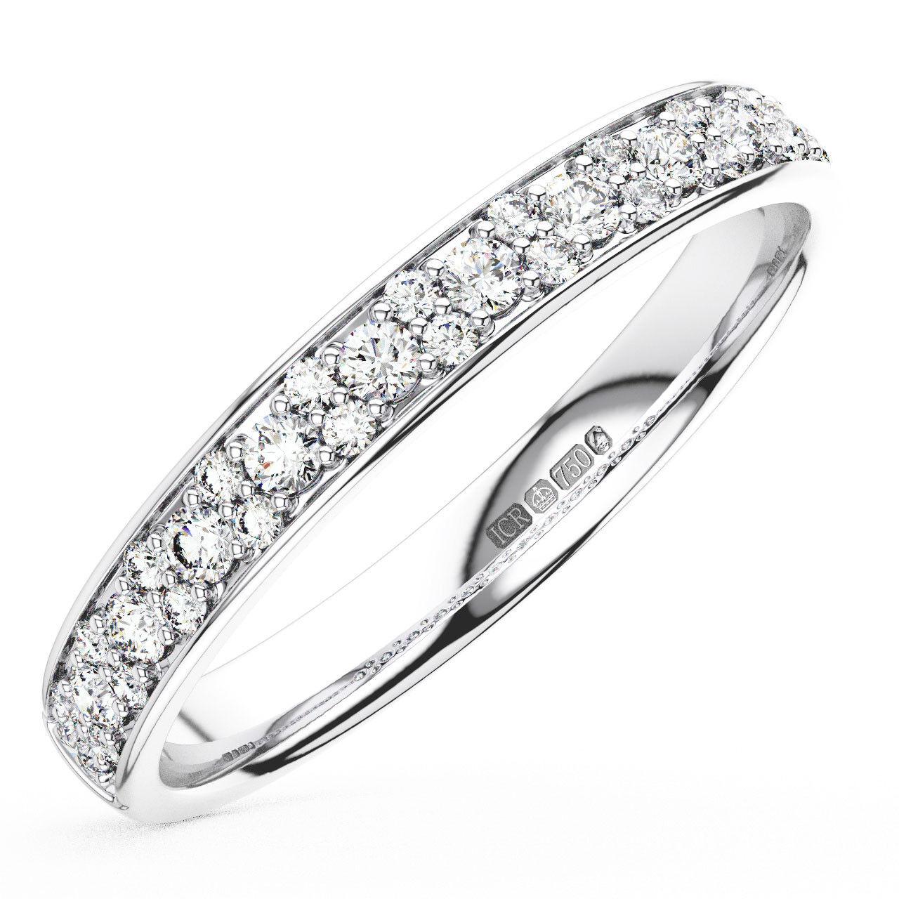 0.30CT Round Brilliant Cut Diamonds Half Eternity Wedding Ring in 18K gold