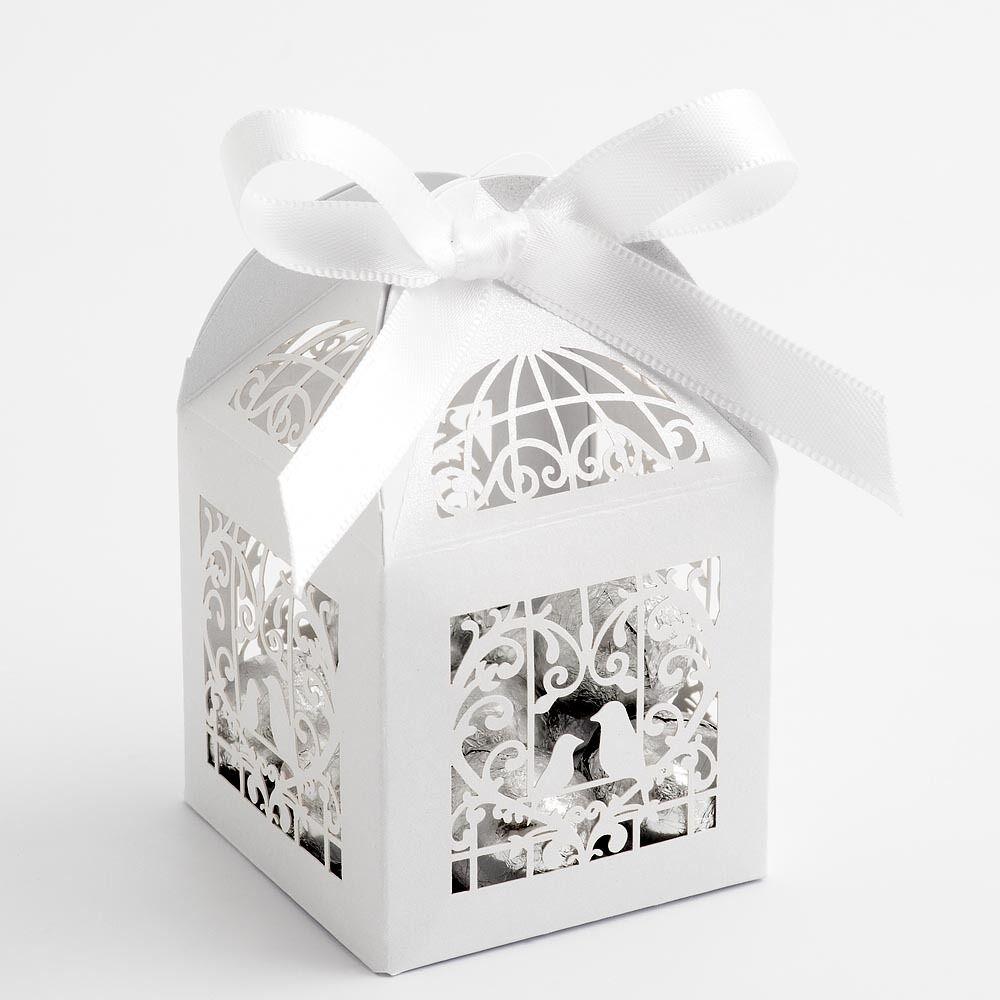 LUXUS Filigranarbeit weiß Vogelkäfig Perlglanz Hochzeitsgeschenk  | Lass unsere Waren in die Welt gehen  | Starke Hitze- und Hitzebeständigkeit  | Online Outlet Shop