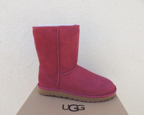 97c79410b1b UGG CLASSIC SHORT II GARNET RED WATER-RESISTANT BOOTS, WOMEN US 9 ...