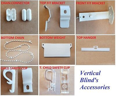 4 x Vertical Blind Top Fix Brackets Clips for Slimline 28mm//29mm//30mm headrail