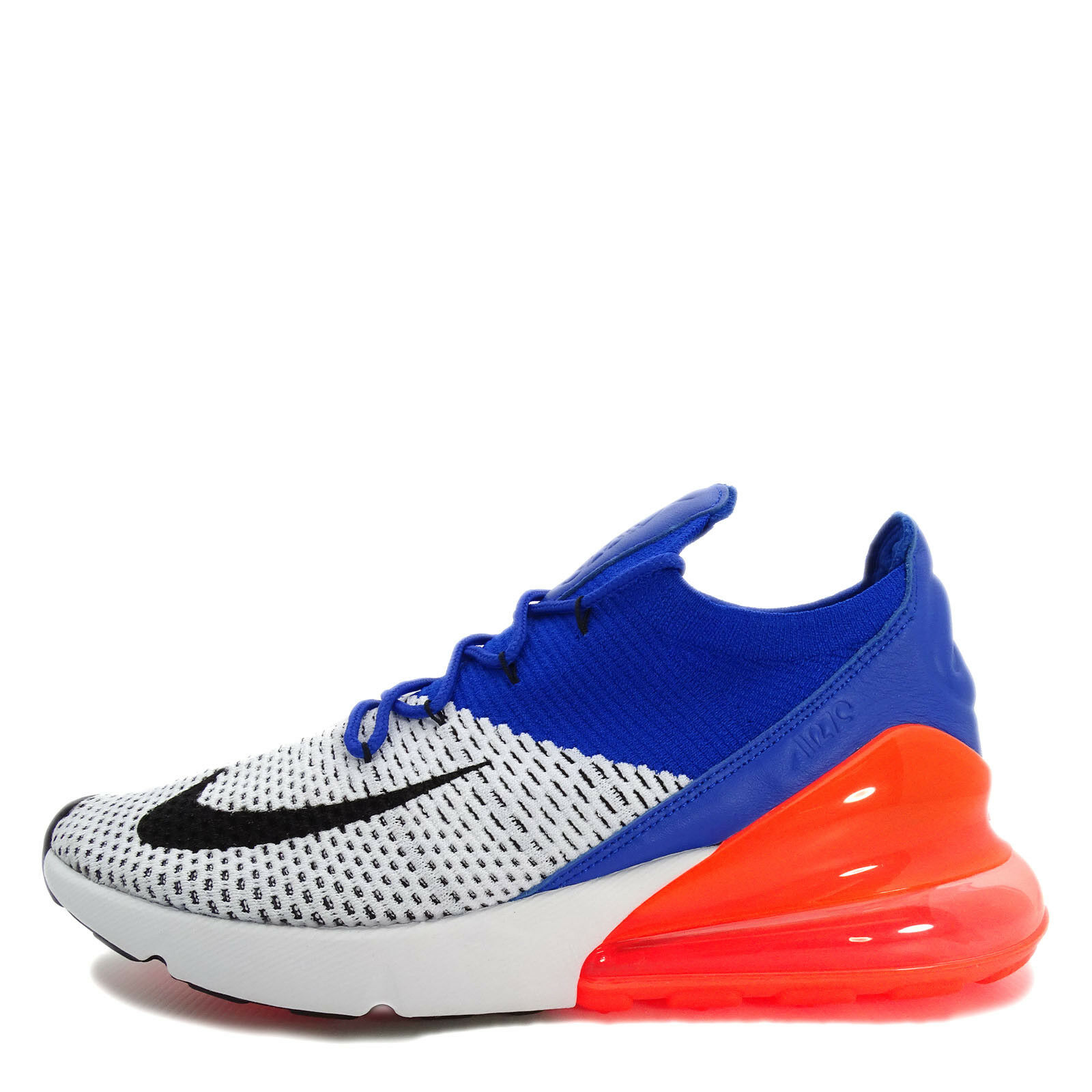 Nike Air Max 270 Flyknit [AO1023-101] Men Casual Shoes Laser White/Black-Blue