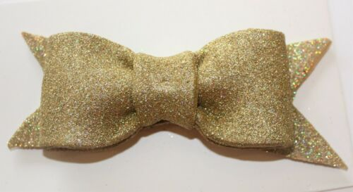 Cake Topper Sugarcraft Handmade Sugar Paste Cake Decoration Glitter Bow GOLD
