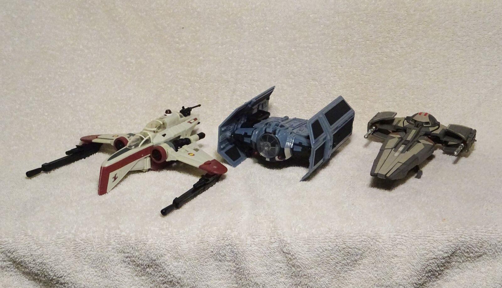 Star Wars Transformers Set Darth Maul, Vader, ARC170 COMPLETE