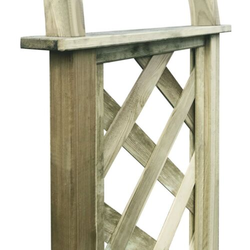 Garden Trellis Arch Rose Wooden Arbour Roses Plant Pergola Archway Outdoor Wood
