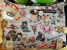 LeSportSac Tokidoki handbag purse hobo Transporto crossbody shoulder rainbow zip