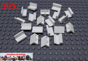 20X-Lego-4865-Paneele-Panel-Wandelement-1X2X1-Weiss-White-NEU