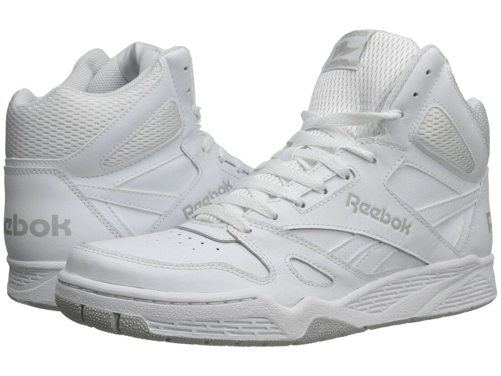 Para Hombre Reebok Royal BB4500 Hi Tenis Zapatos M42661 blancoo Acero 100% Auténtico Nuevo