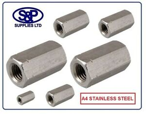 A4-STAINLESS-STEEL-DEEP-NUT-THREADED-BAR-STUDDING-HEXAGON-CONNECTOR-M5-TO-M24