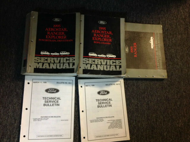 1995 Ford Ranger Truck Service Shop Repair Manual Set Oem W Wiring Diagram