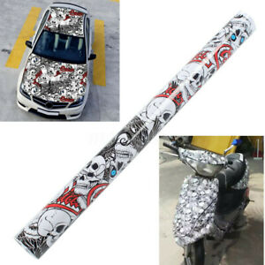 60-039-039-x-20-039-039-Auto-Car-Sticker-Cartoon-Skull-Graffiti-Bomb-Vinyl-Wrap-Sheet-Film