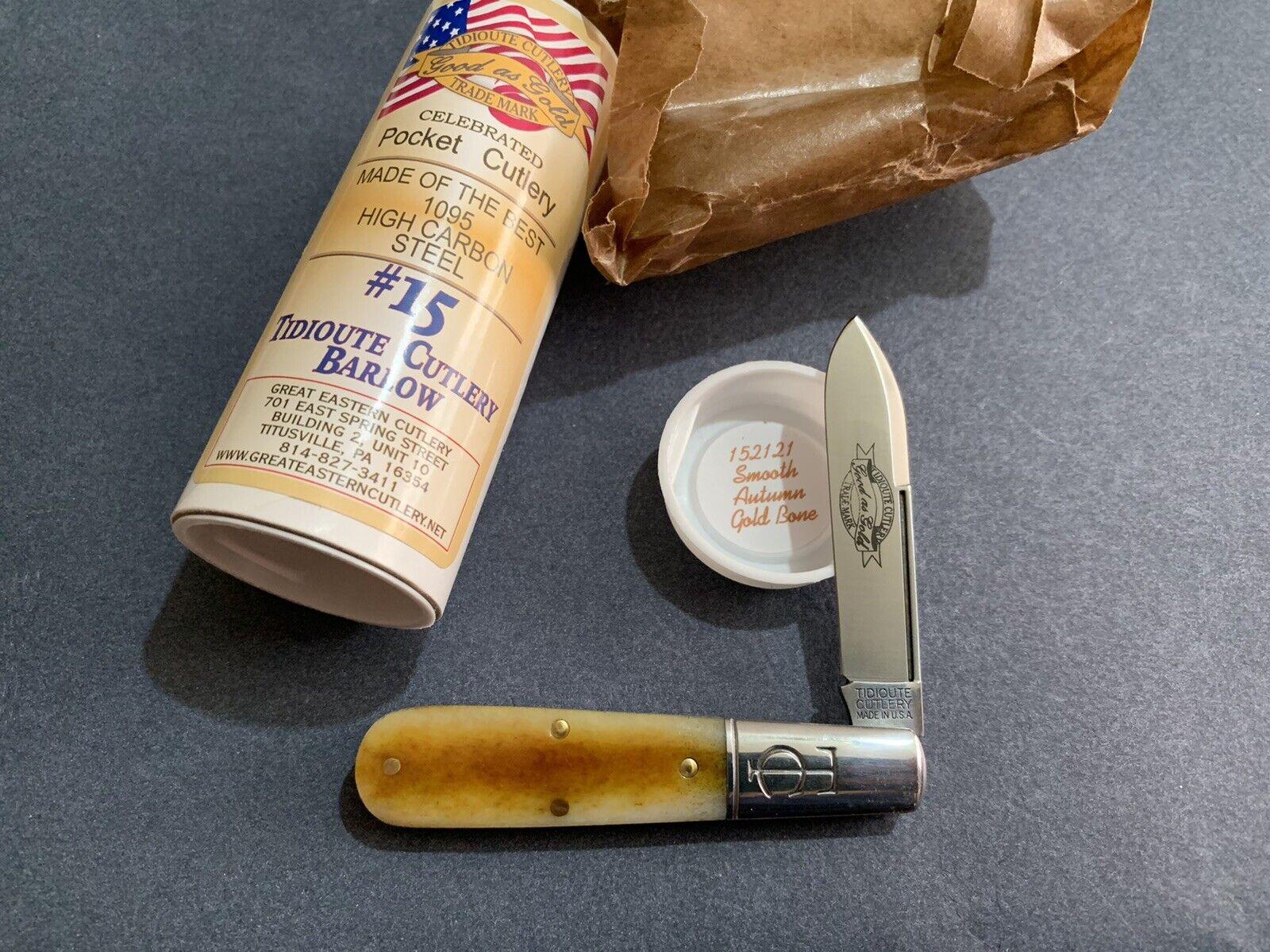 Great Eastern Cutlery Tidioute #15 GEC TC Barlow 152121 Smooth Autumn Gold Bone