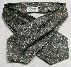 Adaptable Cravate Tootal Vintage Homme 1970 S 1980 S Mod Rétro Vert Foncé Beige Des Tourbillons-afficher Le Titre D'origine