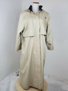 Fleet-Street-Tan-Raincoat-Overcoat-Trench-Coat-Long-Jacket-Fully-Lined-w-Hood-14