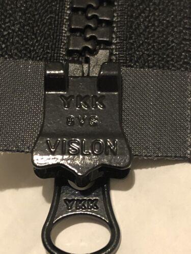 NO-8 2 vías YKK Plástico Moldeado//// cierre negra gruesa abiertas Vislon 36Inc//91Cm largo